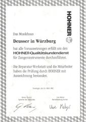 zertifizierter Hohner Servicepartner